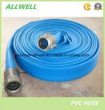 L'irrigation agricole de l'eau en plastique PVC à plat flexible