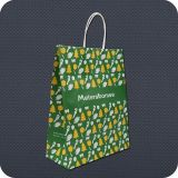 Kundenspezifisches Printed Kraftpapier Paper Bag mit Twist Handle