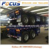 Flachbettbehälter-Schlussteil-Hersteller in China, Behälter-Chassis der Kostenbelastungs-40t