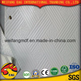 Techo del yeso del PVC con la parte posterior del papel de aluminio