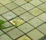 Mosaico de metal 3D, acero inoxidable, mezclar Matural mosaico Mosaico de mármol de la pared interior de papel (YX-MS51)