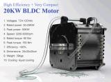 motore di 20kw BLDC per il motociclo elettrico, barca elettrica, Andare-Carrelli elettrici