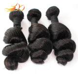 O cabelo malaio do Virgin remenda tramas frouxas do cabelo da alta qualidade da onda