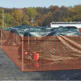 60*40mm 70*40mm 66*26mmのオレンジカラーPdefの安全警告の塀