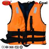 Vida colete reflector laranja personalizados com apito que salvam vidas jaqueta de vida