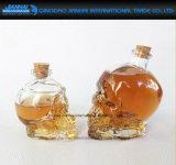 Starker Glasschädel-geformter Wein-Behälter mit Korken