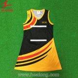 Uniformes de robes de Netball du vêtement des femmes confortables de tissu de la distribution rapide