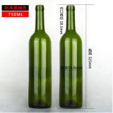 grüne 750ml Bierflasche-bernsteinfarbige Wein-Flasche mit Korken-Stoppern