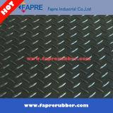 Циновка полового коврика черного серого диаманта резиновый/резины проступи диаманта