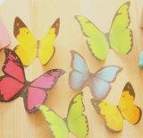Nota pegajosa da mensagem borboleta 3D (PN-003)