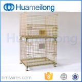 頑丈で堅い鋼鉄Foldable金網の容器