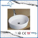 Dispersore di lavaggio del Governo del bacino di ceramica di arte e della mano superiore di vanità (ACB8032)
