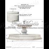 Één Vermoeide Witte Fontein van Carrara voor Decoratie mf-743 van het Huis