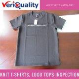 Xiangshan, Zhejiang에 QC 검사 서비스가 니트 t-셔츠에 의하여, 로고 꼭대기에 오른다