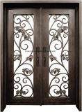 Porta de entrada superior do dobro do ferro feito de Eyebrown do estilo fresco