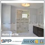 Стена высокого качества нутряная конструирует естественную каменную плитку Carrara мраморный