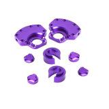 Подгонянный алюминий CNC подвергая механической обработке разделяет пурпуровую часть CNC Anozided подвергая механической обработке