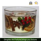Свечка включения стеклянная с сухим цветком и Votive свечка внутрь