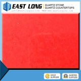 Quartz Artificial, Pedra de Pedra de Quartzo Cor Vermelha Pura, Pedra de Quartzo Vermelho Feita pelo Homem
