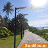 50W 50panneau LED wsolar Rue lumière solaire intégré tout-en-un réverbère LED solaire