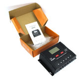 Visor LCD 12V/24V 10Um regulador de carga solar com USB (QWP-SR-HP2410A)