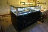 Gebogener Glasschokoladen-und Kuchen-Bildschirmanzeige-Kühlraum