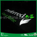 Custiomized Frontlit & освещенный контржурным светом акриловый знак СИД для рекламировать с списком UL