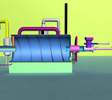 maquinaria da pirólise 10ton para o recicl do plástico e do pneumático