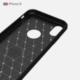 Byunite для iPhone 8 случае роскошь мода тонкий доспехи из углеродного волокна мягкого покрытия 5.8 дюйма