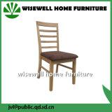 Cadeira contínua do restaurante da madeira de carvalho com assento do plutônio