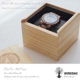 Doos _E van de Doos van de Gift van het Horloge van het Deksel van de Douane van Hongdao de Luxe Scharnierende Houten Houten Verpakkende