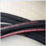 Boyau de tresse du fil SAE 100 R1/1sn/R2/2sn un/boyau pétrole hydraulique