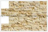 明るいベージュ大理石の錆ついた大理石の磨かれ、分割されたタイル