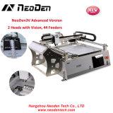 Фидеры машины 44 выбора и места высокой точности SMT Neoden3V, 2 головки с зрением