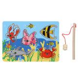 Magnetisches Fischen-lustiges hölzernes Puzzlespiel