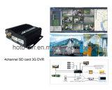 автомобиль DVR 3G H. 264 карточки 4CH SD и функция GPS (HT-6605)
