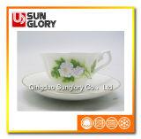 Tazza di caffè della ceramica della tazza della porcellana di Cina di osso con le righe dell'oro