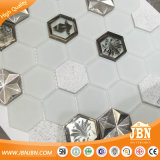 Mattonelle di mosaico di pietra di alluminio di vetro di esagono europeo (M855408)