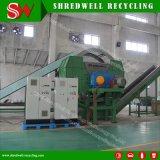 Eixo Duplo cabo usado Shredder para a reciclagem de resíduos