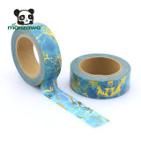 Alibabaのベストセラーの大理石デザイン金ホイルの装飾的な保護テープ卸し売りScrapbooking