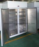 1000 liter 2 de Diepvriezer van de Koelkast van het Roestvrij staal van de Deur, de Apparatuur van de Keuken
