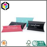 Rectángulo de empaquetado de la hoja de plata de la insignia de la cartulina de la almohadilla del regalo de encargo del papel