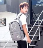 韓国様式の偶然のバックパックのランドセルのラップトップ袋夜明るいUSBの充電器の屋外のバックパック