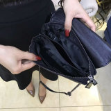 Solo bolso de Crossbody del embrague del hombro del sobre de cadena de cuero suave de la borla