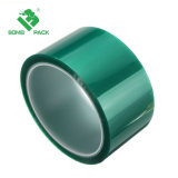 絶縁体の高温ペット緑の電気めっきの保護粘着テープ
