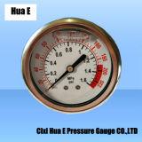 63mmの振動証拠および液体のFillableのパネルの圧力計