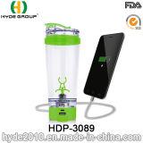 les frais de rappel de 600ml Customzied USB BPA libèrent la bouteille électrique en plastique de dispositif trembleur