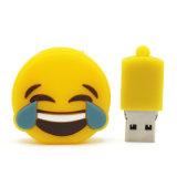 Movimentações de venda superiores do flash do USB do PVC Emoji para presentes relativos à promoção