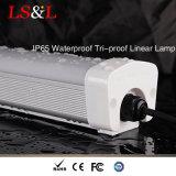 A lente energy-saving IP65 de Forsted Waterproof a lâmpada linear da Tri-Prova