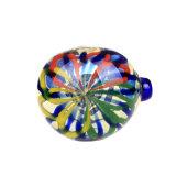 Pipa de vidrio colorido de la banda de oro de mano de Vidrio Cristal Tubo Tubo de cuchara